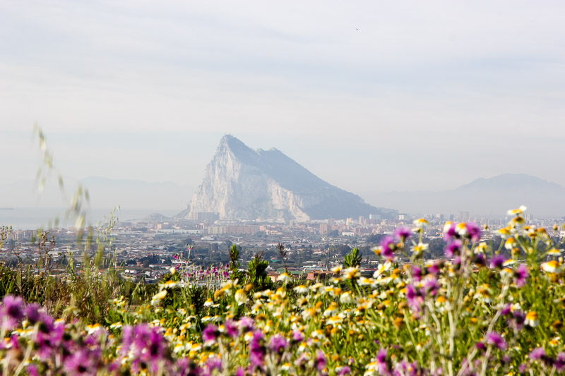 This is how The Rock of Gibraltar looks from Spain. Gorgeous right?!?