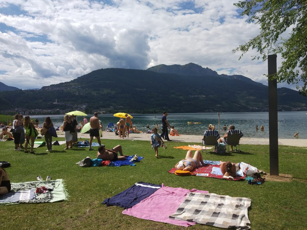 ferragosto-trento lago di Caldonazzo-alps