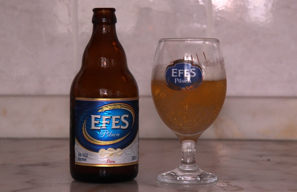 Efes Pilsen Beer is produced in Turkey.
