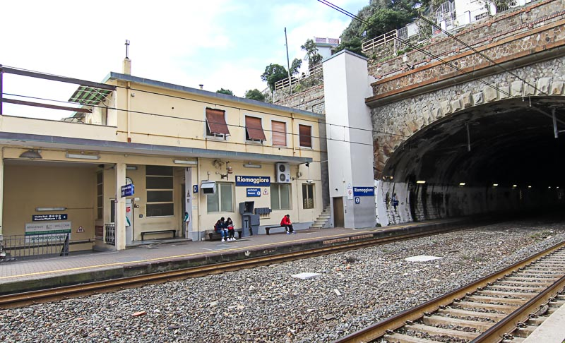 First town Riomaggiore train station