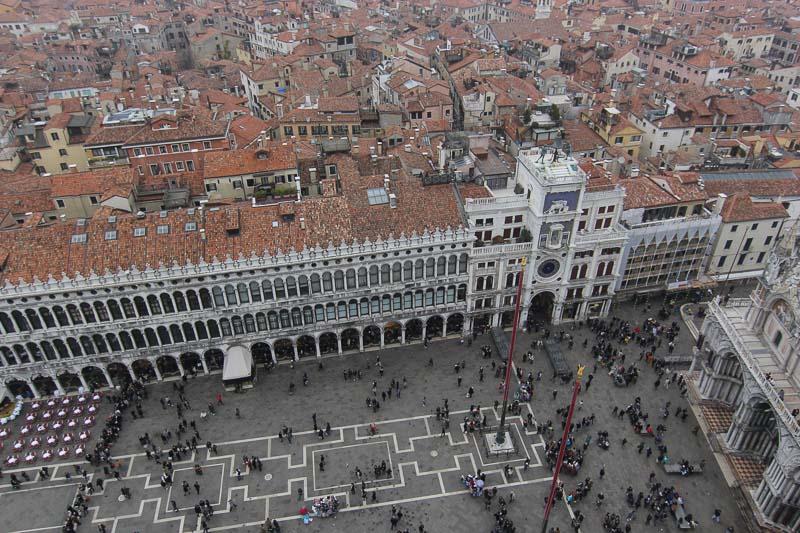 Meşhur San Marco meydanı (San Marco kulesinden)