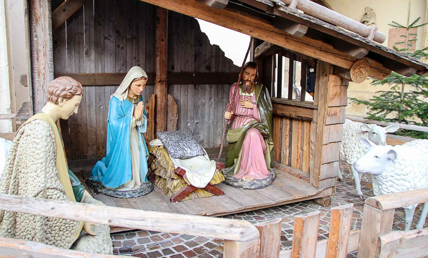 A depiction of the Nativity of Jesus