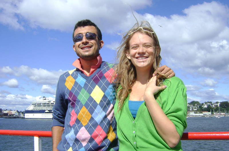 Our sweet friend Hüseyin (Turkish) with his English fiancee Emily.