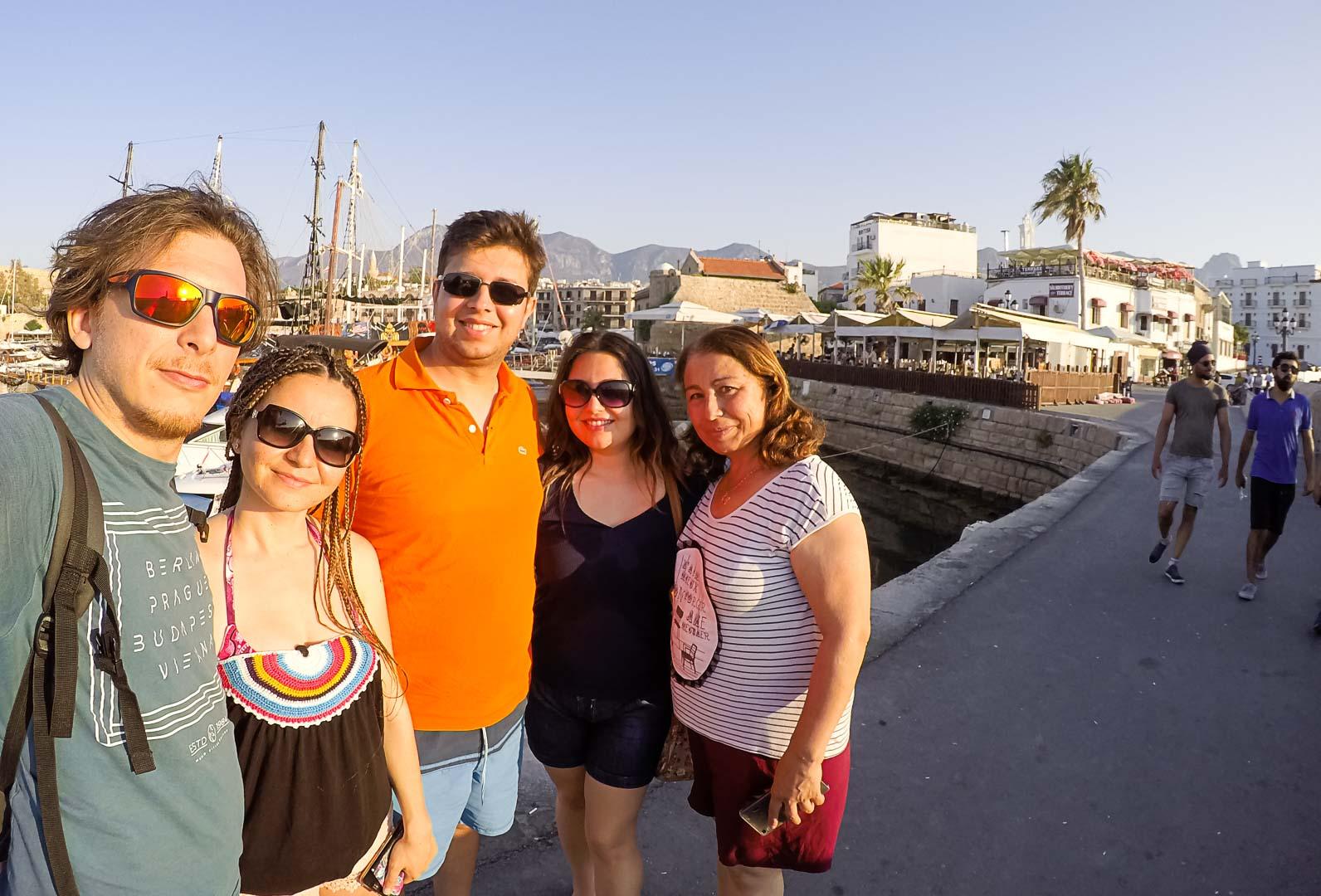 Kuzey Kıbrıs - Girne Limanı -turist