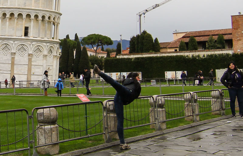 And here you go: The karete Kid at Pisa..