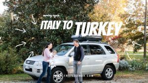 Travel by car italy to turkey