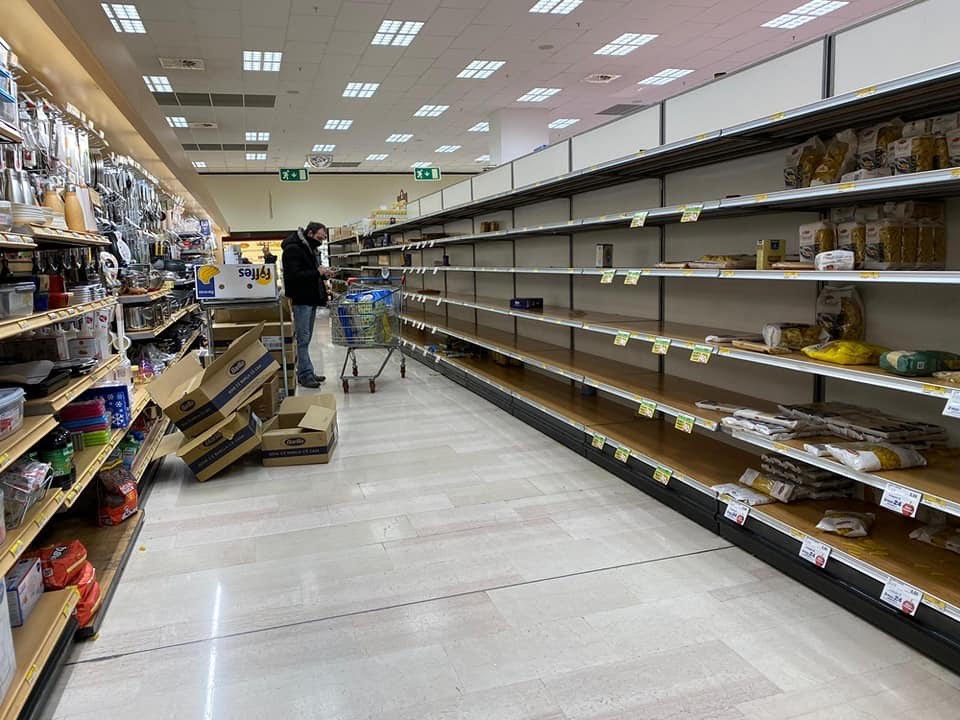 supermarket in italy